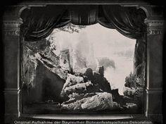 """"""" Siegfried """" 3.Aufzug 1.Bild  1896   Bühnenphoto ca.1905"""