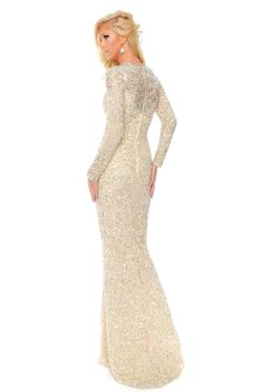 f591425ad72 Precious Formals L9169 Long Sleeve Sequin Prom Pageant Dress Pageant  Dresses