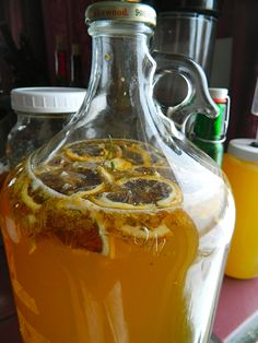 Lately I've been experimenting with honey mead. The (really simple) directions and inspiration came from Sandor Katz's The Art of Fermentation (of course!). I went with a honey to water ratio of 1:...