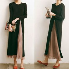Plissee-Highlight in 2020 Modest Fashion, Hijab Fashion, Korean Fashion, Fashion Dresses, Diy Rock, Look Fashion, Womens Fashion, Fashion Design, Fashion Vestidos