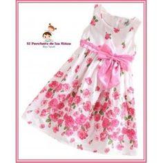 VESTIDO ROSAS Summer Dresses, Fashion, Vestidos, Roses, Moda, Summer Sundresses, Fashion Styles, Fashion Illustrations, Summer Clothing