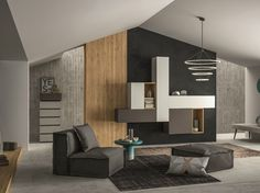 Sectional storage wall SLIM 108 Slim Collection by Dall'Agnese | design Imago Design, Massimo Rosa