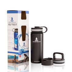 Liquid Savvy 18oz Insulated Water Bottle with 3 lids - Stainless Steel, Wide Mouth Double Walled Vacuum Insulated Bottle for Hot and Cold Beverages * More info could be found at the image url.