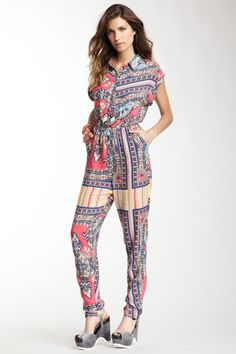 Flying Tomato Tribal Print Jumpsuit  by Flying Tomato & More on @HauteLook