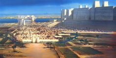 "Mennefer (Memphis) Ineb-Ḥedjet [  Men-nefer/ Menfe], was called the city of the ""White Walls"" for the enormous walls around the Temple of Ptah compound, it was the first capital of Egypt following its unification by Nesi (Pharaoh) Menes. In the area around Memphis, at sites such as Saqqara and Dahshur, pharaohs and important officials were entombed over many centuries."