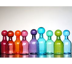 Blown Glass Jars: Blown Glass Jars by Elizabeth Lyons These are beautiful!! I'd lIke to use them as drinking glasses.