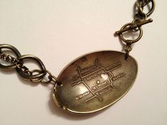 Iowa Spoon Necklace with Heart Cutout  antique by GeorginaBaker, $42.00