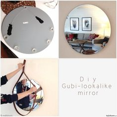 DIY-make your own gubi-mirror  #diy #mirror #styleroom