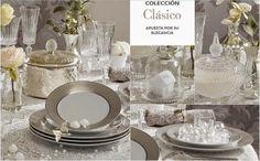 mesa clasica / 5 propuestas navideñas para decorar la mesa  http://patriblanco-patricia.blogspot.com.es/2014/12/cinco-mesas-navidad.html