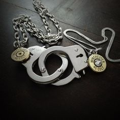 Locked Up His and Hers Bullet Necklace