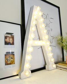 DIY Letter Lamp - No advanced skills or tools are needed