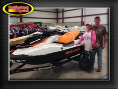 Thank you Kelli and Clay McGee from Wiggins MS for getting a 2017 Sea-Doo GTS 130 and a Shoreland'r trailer #seadoo