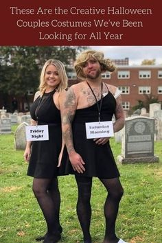 It's the spookiest time of the year, and we know you're scrambling for a costume idea. #Creative #HalloweenCouples #Costumes