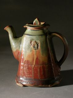 sq. teapot r/g ash by David Voll Pottery, via Flickr