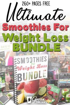 I lost over 50 pounds with this. This 260 page FREE Smoothies For Weight Loss Bu. I lost over 50 pounds with this. This 260 page FREE Smoothies For Weight Loss Bundle gives you ever Make Ahead Smoothies, Good Smoothies, Fruit Smoothies, Best Green Smoothie, Green Smoothie Recipes, Smoothie Diet, Weight Loss Drinks, Weight Loss Smoothies, Fruit List