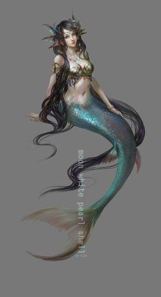A beautiful mermaid.
