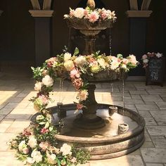 #receptiondecor visionscatering.com #ncbride #wedding #catering #floral #decor #weddingreception #weddingdesigns #receptiondecor #weddingcatering  #freshfloral Centerpieces, Table Decorations, Event Company, Special Events, Fountain, Bouquet, Wedding Catering, Floral, Outdoor Decor