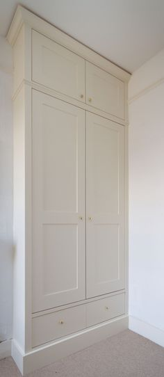 Wardrobe | shaker panel | traditional modern | hand made | hand painted | drawers at base