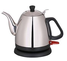Wollin Electric Kettle 1 L  Durable  Rust Proof Stainless Steel Design  Ergonomic Handle With Curved Gooseneck For Spill Free Pouring  Fast  Cordless Teapot For Coffee Boiling Water Tea  More -- You can find out more details at the link of the image.Note:It is affiliate link to Amazon. #followher