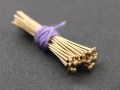 Gold Filled 1.5 inch Head Pin 22 GA   1.51.6 mm Head by Beadspoint, $0.50