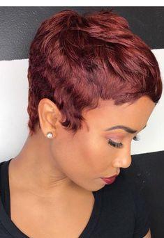 Short Sassy Hair, Short Hair Styles Easy, Short Hair Cuts, Curly Hair Styles, Natural Hair Styles, Pixie Cuts, Pixie Color, Short Black Hairstyles, Black Pixie Haircut