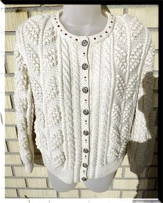 Bavarian knit Trachten Vest with Crystal Hearts. Chic and a LOOKER