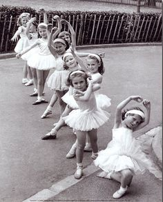 @Nadine Padoa This is your future hobby...teaching little girls to be little ballerinas..mine is the one in the front that's not quite interested as yet ;)