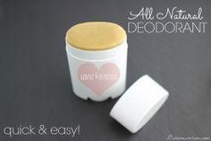 All Natural Homemade Deodorant