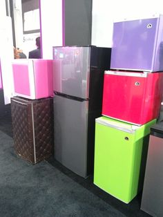 A lot of flashy appliances at the CES. These are all Igloo refrigerators. #CES2015 #Intel #IntelTablets