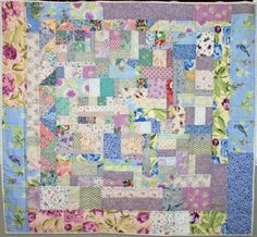Bright Comfy and Useful Quilt by For Comfort on Etsy