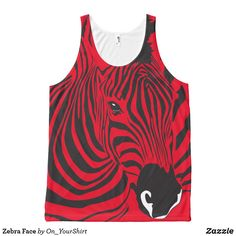 Customizable All-Over Printed Unisex Tank made by Jakprints. Zebra Face, Printed Tank Tops, Create Your Own, Tank Man, Bring It On, Unisex, Prints, Mens Tops