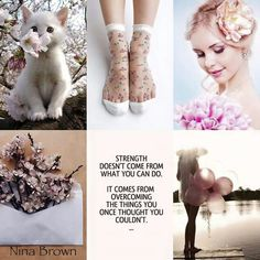 Nina Brown Quote - Strength doesn't come from what you can do. It comes from overcoming the things you once thought you couldn't. My Mood, Good Mood, Collages, Mood Colors, Beautiful Collage, Colour Board, Good Morning Quotes, Color Pallets, Color Trends