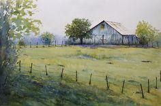 Spring Farm by Judy Mudd Watercolor ~ 15 x 22