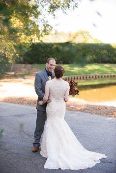 BHLDN wedding dress with lace back - Renaissance Court Wedding at Norfolk Botanical Garden — Caitlin Gerres Photography