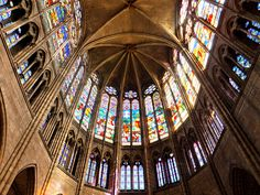 Basilica of St Denis, Paris, France Basilica Of St Denis, Places To Travel, Places To See, Goblet Of Fire, Cathedral Church, Beautiful Places In The World, Art And Architecture, Art History, Glass Art