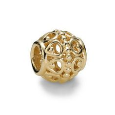 Pandora Xmas(Christmas) 2013 14ct Gold Gilded Cage Charm 750458 Clearance Deals