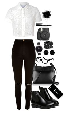 """""""Untitled #305"""" by musicwildlife ❤ liked on Polyvore featuring Glamorous, River Island, WithChic, Kara, Casetify, Ray-Ban, Olivia Burton, AeraVida, Chico's and Marc Jacobs"""