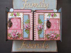 Graphic 45 Botanical tea gate fold mini album