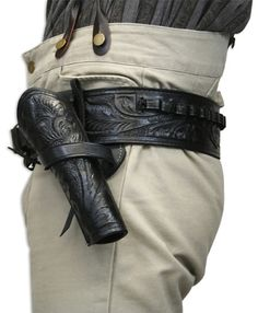 Pistol Holster, Leather Holster, Leather Tooling, Tooled Leather, Cowboy Holsters, Western Holsters, Cross Draw Holster, Single Action Revolvers, Period Outfit