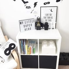 Amazing Kids Bedroom With Batman Decorations Ideas 8408 Cool Kids Bedrooms, Boys Bedroom Decor, Trendy Bedroom, Boys Monochrome Bedroom, Modern Bedroom, Box Room Bedroom Ideas, Playroom Decor, Chambre Nolan, Batman Bedroom