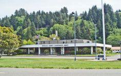 Douglas County Court House Annex - in Reedsport, Oregon. Southern Oregon Coast, County Court, Douglas County, Reedsport Oregon, Annex, Mansions, House Styles, Home Decor, Decoration Home