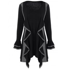 SHARE & Get it FREE | Striped Trim Ruffled Tunic T-ShirtFor Fashion Lovers only:80,000+ Items·FREE SHIPPING Join Dresslily: Get YOUR $50 NOW!