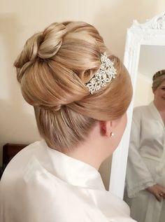 Detailed bun hairstyle by Bridgette @ powder Room Brisbane