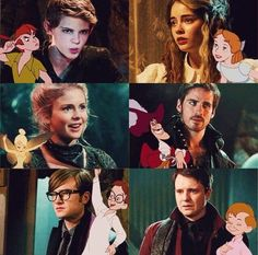 Once upon a time Peter Pan characters <3 I was sad that Peter wasn't with Wendy :( but then again, he was actually an older guy with a son who wanted to make himself young forever.. Not your normal Peter Pan lol