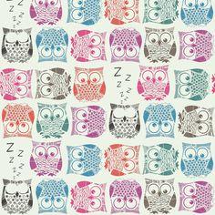 sherbet owls light fabric by scrummy on Spoonflower - custom fabric Pascale Sara F