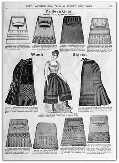 1890-91 Vintage Fashion: H.O'Neills Fall & Winter Catalogue Page 27 - Victorian Ladies Underskirts by CharmaineZoe, via Flickr