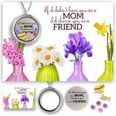 Mom Grandma I'd Choose You as A Friend Jewelry Card Set