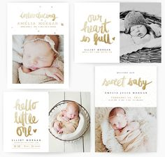A Sweet Arrival 5x7 WHCC Cards vol 2 by Oh Snap Boutique