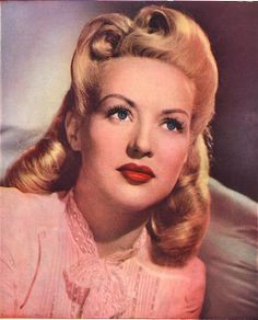 Betty Grable had the BEST hair!                              …