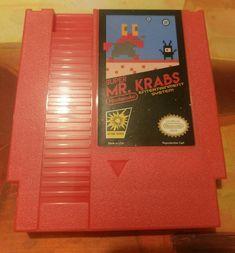 Super Mr. Krabs  Reproduction NES Cartridge w/ Dust by StupidGeeks